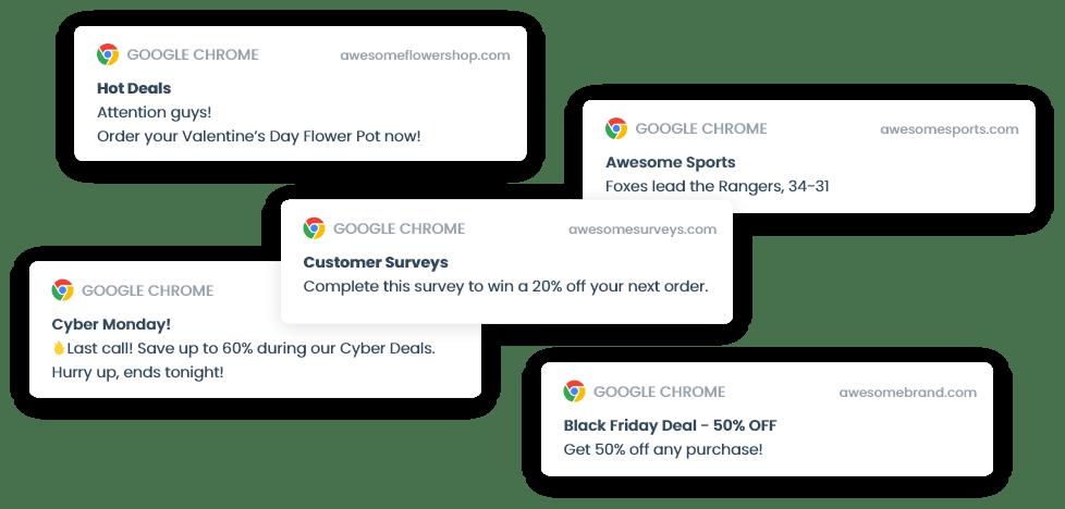 Google Chrome Web Push notifications